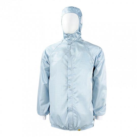 Куртка с притачным шлемом, застёжкой на молнию и кнопки КР.14