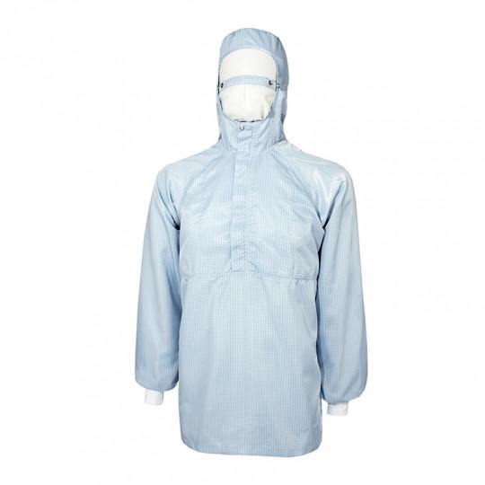Куртка мужская прямого силуэта с притачным шлемом и короткой застёжкой КР.19