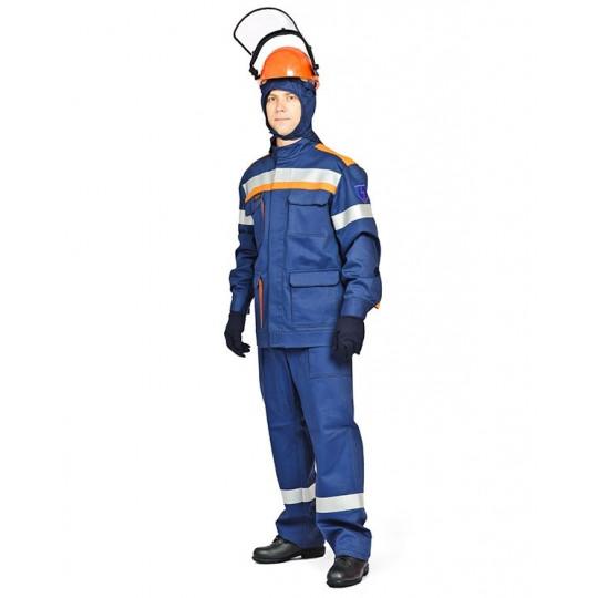Комплект летний для защиты от электрической дуги СП03-Л/42В (куртка, брюки), + термостойкое белье, 42 кал/см2