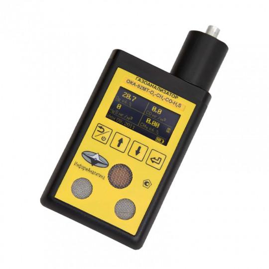 Газоанализаторы кислорода, горючих и токсичных газов ОКА-92МТ для персонального использования со встроенным блоком датчиков