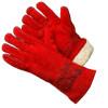 Зимние спилковые перчатки и краги