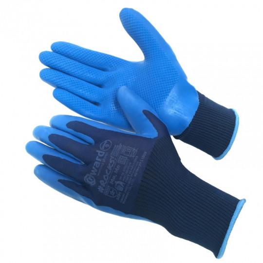 Нейлоновые перчатки со штампованным латексным покрытием Gward Rocks