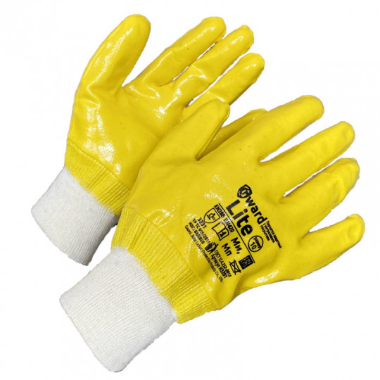 Целиком покрытие премиум-нитрилом перчатки Gward Lite