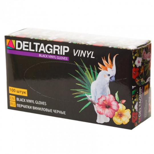 Чёрные виниловые перчатки Deltagrip Vinyl Black