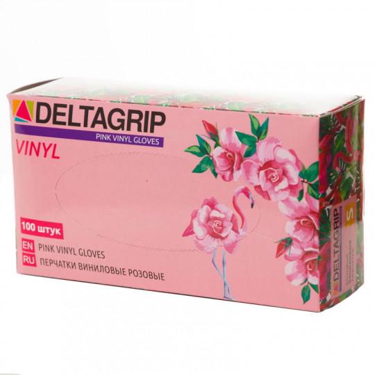 Розовые виниловые перчатки Deltagrip Vinyl Pink