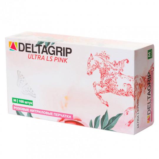 Розовые нитриловые мультифункциональные перчатки Deltagrip Ultra LS