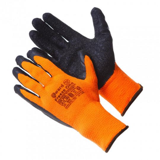 Акрил-полиэстеровые перчатки с текстурированным латексом Gward Freeze One