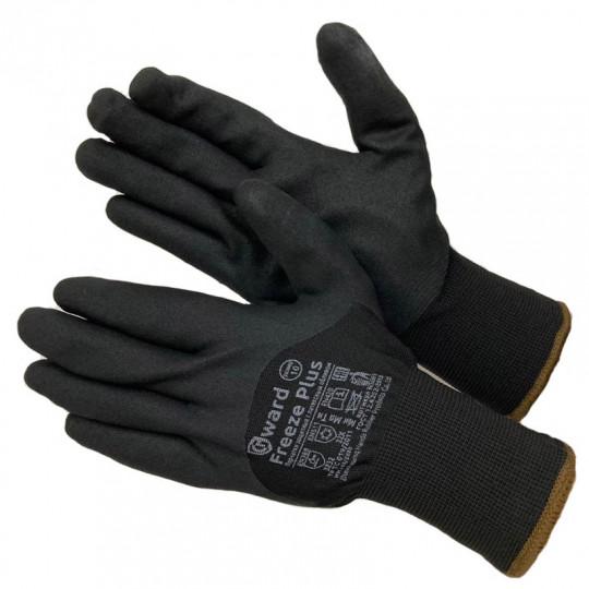 Двойные зимние перчатки с начёсом и вспененным нитрилом Gward Freeze Plus
