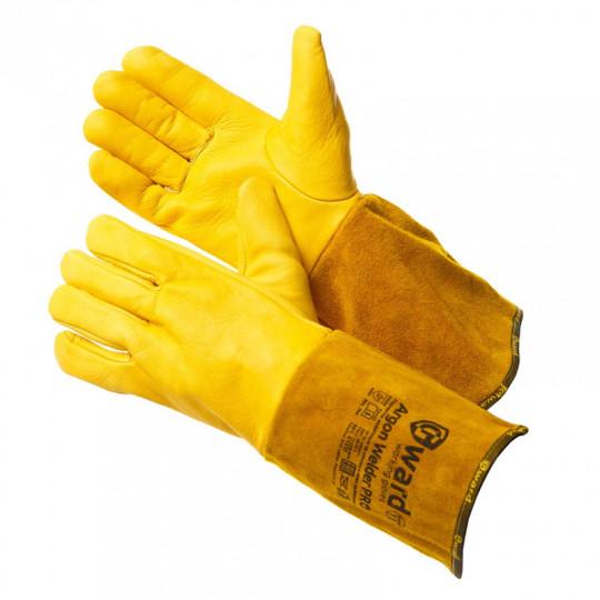 Краги для аргоновой сварки с цельной кожаной перчаткой Gward Argon Welder Pro