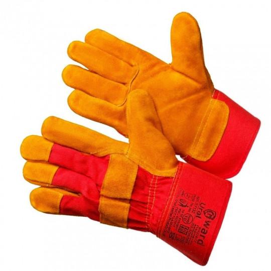 Усиленные спилковые комбинированные перчатки Gward Ural