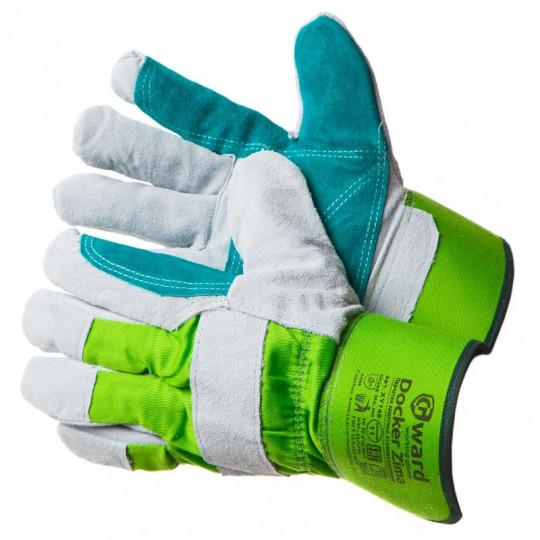 Зимние спилковые перчатки Gward Docker Zima с накладкой и микроволокнистым утеплителем