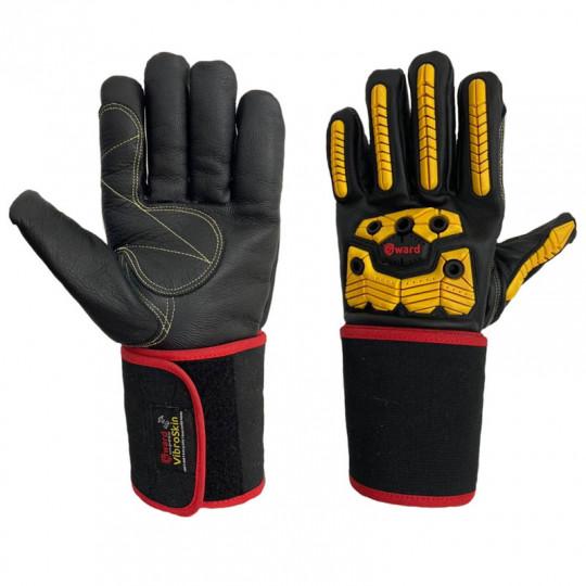 Антивибрационные кожаные перчатки с ударной защитой Gward Vibroskin