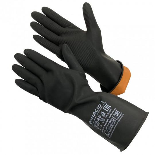 Перчатки КЩС тип 1 резиновые технические Gward ACID 1