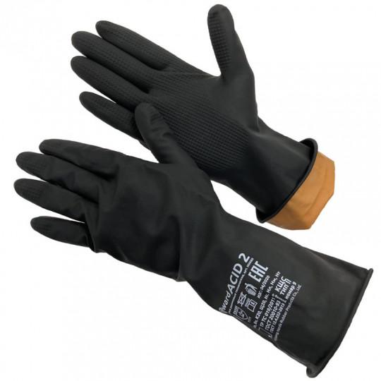 Перчатки КЩС тип 2 резиновые технические Gward ACID 2