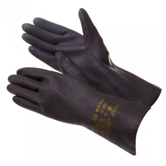 Индустриальная химстойкая перчатка латекс+неопрен Gward HD27