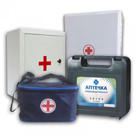Аптечка для оказания первой медицинской помощи на производстве.