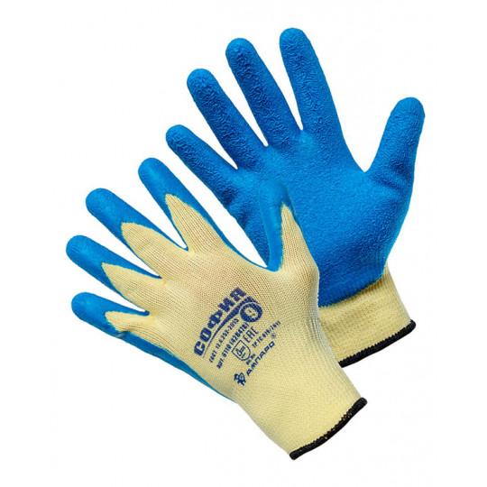 Перчатки трикотажные с латексным покрытием София (т)
