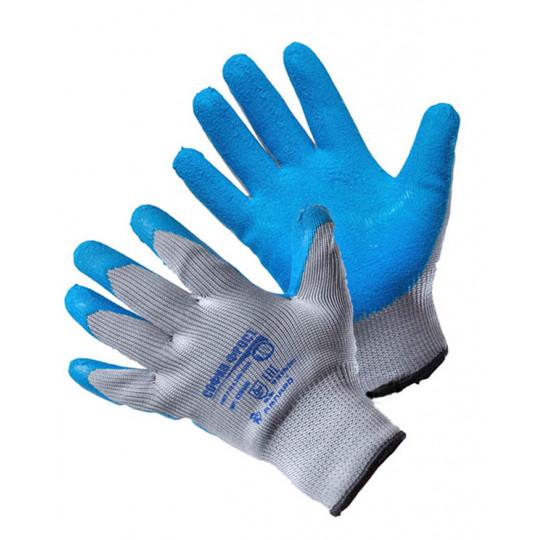 Перчатки София Фрост серо-синие (т)