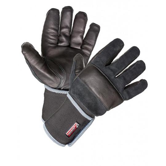 Перчатки антивибрационные кожаные черные Вибростат 01 (т)