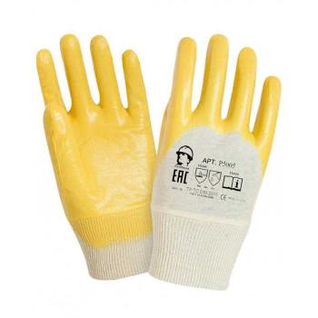Перчатки х/б полуоблитые облегченным нитрилом