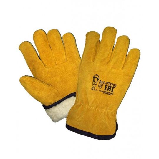 """Перчатки """"Драйвер"""" утепленные искусственный мех"""